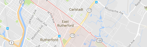 East Rutherford NJ map