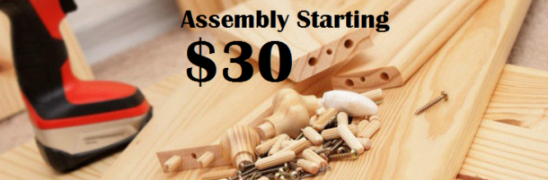 Woman Assembling A Furniture; Furniture Assembly Cost $30